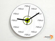 The Time is Now - No numbers - Funny Joke Entertaining Decoration - Wall Clock