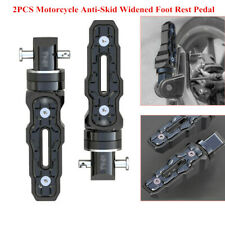 2PCS Aluminum Rear Motorcycle Motorbike Anti-Skid Widened Foot Rest Pedal Solid