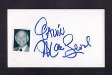 Gavin MacLeod Autographed Signed Index Card-Sized Cut w/COA jhb