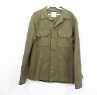 Vtg 70s Vietnam Era Mens Small Cold Weather Wool Field Shirt US Military Army