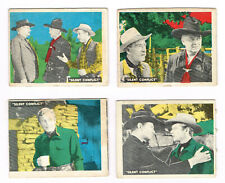 New listing 1950 Topps Hopalong Cassidy lot 4 different cards #s 188, 192, 194 and 198