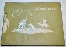 Vintage UNUSED Mid Century Photo Album Snapshots Lambs Sheep Baby Pictures