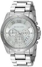 NWT Michael Kors Chronograph Brecken Stainless Steel Bracelet Watch 44mm MK8562
