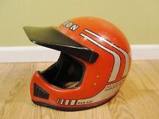 Vintage Maxon Ram Air Full Face BMX Dirt Bike Motocross Helmet Size Medium Red