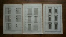 Architecture-windows-balustrades and feet of estal-original engraving eighteenth