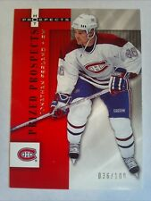 2005-06 Hot Prospects Jonathan Ferland Rookie RC Platinum #d 36/100  Canadiens