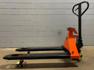 """Pallet Jack with built in Scale Manual  4400lbs Capacity 49""""Lx27""""W Fork 5 Star"""