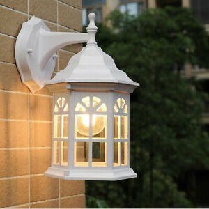 Vintage Outdoor Wall Light IP44 waterproof Glass Wall Sconce Garden Wall Lamp