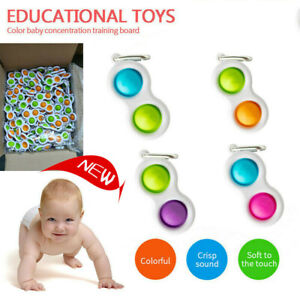 Baby Sensory Simple Dimple Toys Silicone Safe Causality Learning Grip Exercise