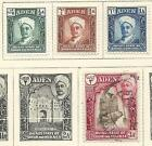 1942 Qu'aiti State in Hadhramaut Part set of 4 3 Mint Hinged 3AS Used