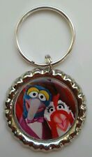 """MUPPETS MOST WANTED """" Gonzo & Camilla the Chicken"""" Bottle Cap Keychain"""