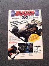 I418-Advertising Pubblicità- 1988 - GIG BUGGY , MACCHINE DA RECORD