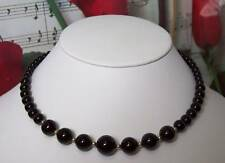 Black Onyx With 14k Gold Filled Beaded Necklace.BON031
