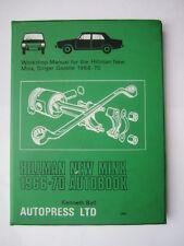 Autopress Hillman New Minx 1966 - 1970 Workshop Manual