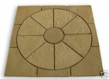 Circle and Square Paving Garden Patio Pack Slabs - Stone