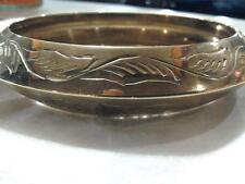 Etched Design Heavy Brass Bangle -Free Shipping !!