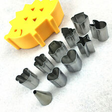 10pcs/set Fruit Cookie Biscuit Ham Cutter Mold Hedgehog Box Mini Stainless Steel
