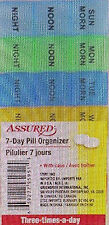 Assured 7-Day Pill Organizer Case For Three Times A Day Brand New 6.5x3 Inch w
