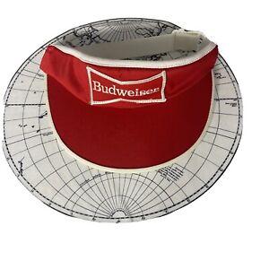 Vintage Budweiser Beer Sport Hat Sun Visor