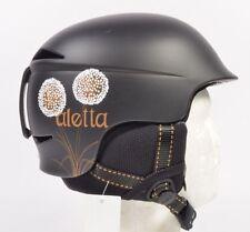 Burton/RED ALETTA Womens Snowboard Ski Helmet Size XS Matte Black NEW