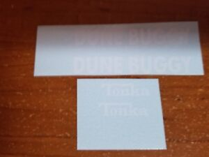 TONKA JEEP DUNE BUGGY WHITE DECALS
