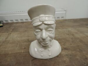 Rare Glazed But Unpainted Beswick Parker Ceramic Bust From Thunderbirds