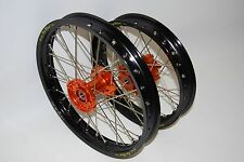 "KTM 50 SX Complete wheel set 12"" rear and 14"" front"