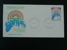 non-aligned movement 25 years of Bandung conference Indonesia FDC Mali 1980