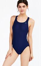 [91 77] Nike Womens Midnight Navy Blue Racerback One Piece Swimsuit Swiming 20