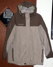 Columbia Hooded Fleece-Lined Parka Jacket Women Sz L Khaki