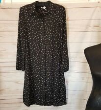 Precis petite shirt dress UK8 Black White Red Spotted Button Front New.