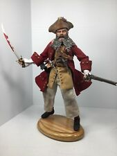 "1/6 SIDESHOW *RARE* ""BLACKBEARD"" THE PIRATE SWORD + STAND DRAGON DID BBI 21st"