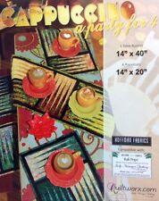Judy Niemeyer CAPPUCCINO Table Runner & Place Mats Foundatio Peicd Quilt Pattern