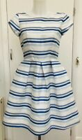BNWT New Rrp £75 Closet London 'Fit N Flare' Striped Sparkle Occasion Dress 10