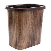 FleD4 Rattan Holz Papierkorb Mülleimer Abfallbehälter gebraucht