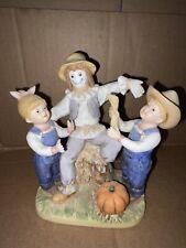 """Denim Days Danny & Debbie """"Our Scarecrow"""" # 1524 Homco Home Interiors 1998"""