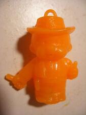 PVC figurine KIKI cadeau surprise lessive BONUX Monchichi Cow Boy Orange Fluo