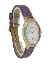 Bulova Diamond Gallery 98R198 Women's Analog Date Interchangeable Band Watch