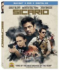 SICARIO - [BLU-RAY/DVD COMBO PACK] - NEW UNOPENED - BENICIO DEL TORO