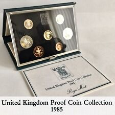 1985 United Kingdom Proof Coin Collection By The Royal Mint + Original Documents