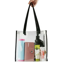 Eco Clear Reusable PVC Tote Bag Shopping Bags Beach Cosmetic Bags Handbags