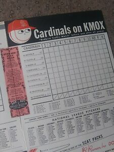 Vintage 1968 SCORECARD St. Louis Cardinals '67 World Champions vs San Francisco