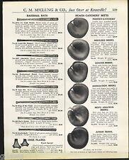 1921 ADVERT Louisville Slugger Baseball Bat Ty Cobb Decal King Of The Field Pro