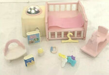 Calico Critters Complete Nursery, With Light Up Crib Furniture Set