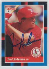 Autographed 1988 Donruss Jim Lindeman - Cardinals