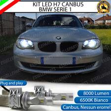 KIT LED H7 BMW SERIE 1 E87 E88 E81 8000 LUMEN 6500K ANABBAGLIANTI CANBUS BIANCO