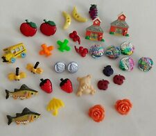 HUGE LOT of KIDS BUTTONS Handpainted CRAFTS SUPPLIES