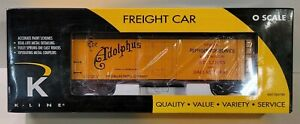 "K-Line Train Model #K762-5608 NIB Anheuser-Busch ""Adolphus"" WS Reefer Car (680)"