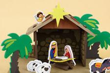 Child's Nativity Set Unbreakable Foam with Stable Platform Animals Angel Base