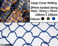 Net Netting 70x70x4mm or 100x100x4mm Cargo Cover Protection Strong Heavy Duty